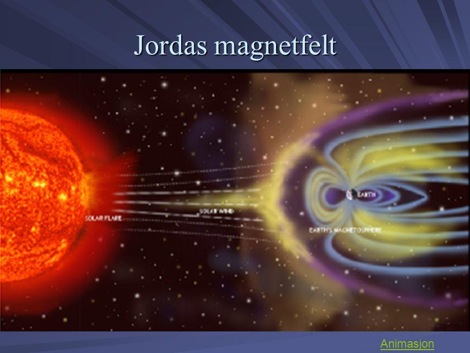Nordlysets veiviser Jordas magnetfelt styrer solpartiklene inn mot jordas magnetiske poler slik at vi får dannet Nordlys – Aurora borealis Sørlys – Aurora australis