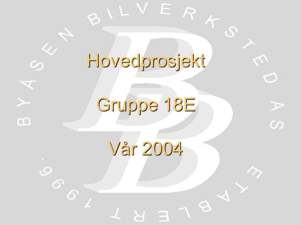 Hovedprosjekt Gruppe 18E Vår 2004