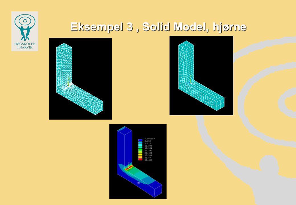Eksempel 3, Solid Model, hjørne