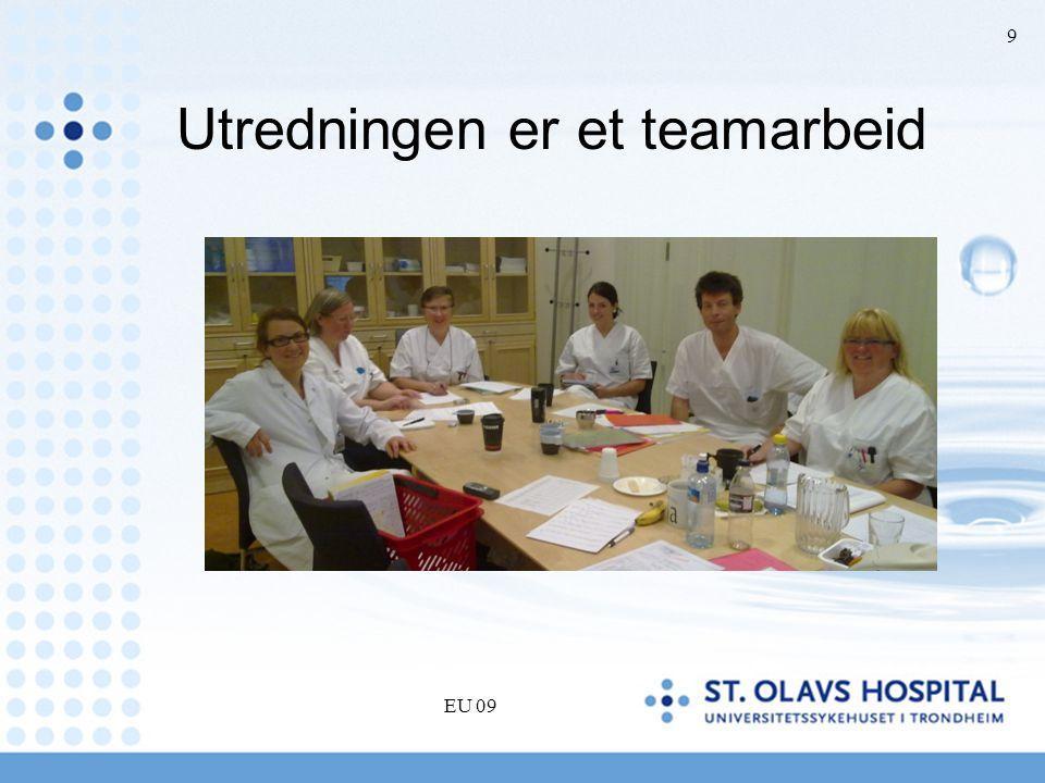 Teamvurdering •I teammøte, vurderer flere samtidig •En samlet, individuell vurdering –Hører pasienten for godt •I praktiske situasjoner •Vil CI bli en (vesentlig) forbedring –Har pasienten hørt for dårlig for lenge –Hva kan pasienten vinne/tape ved CI –Medisinsk i orden å operere –Egnethet, motivasjon, forventning EU 09 10