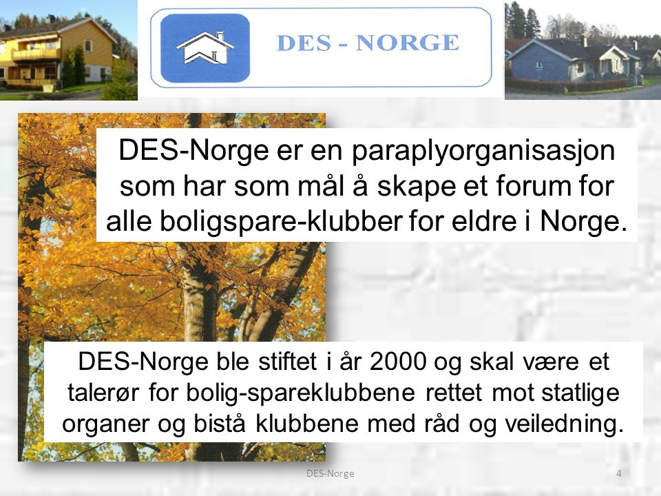 25DES-Norge Klubber som har tilgang til DES-Norges Hjemmeside: www.des-norge.no vil kunne finne flere opplysninger om organisasjonen vår.