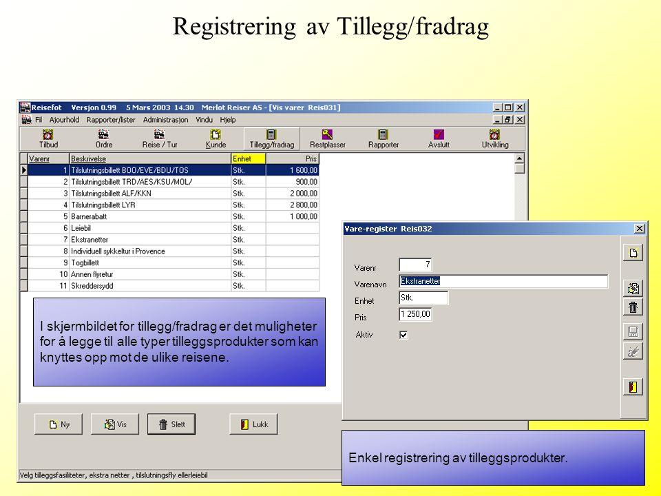 Eget register med notater og Word-og andre filer med informasjon om de ulike turene.