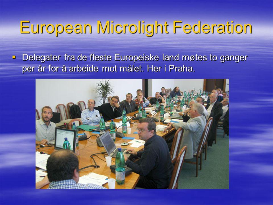 European Microlight Federation  Delegater fra de fleste Europeiske land møtes to ganger per år for å arbeide mot målet. Her i Praha.