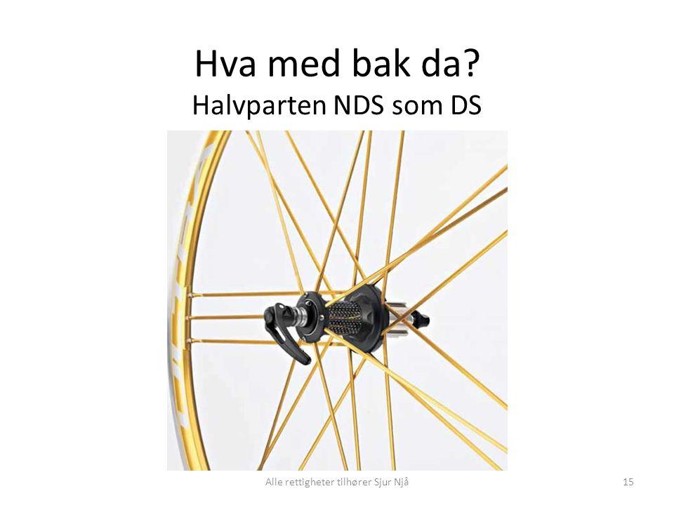 Hva med bak da? Halvparten NDS som DS 15Alle rettigheter tilhører Sjur Njå