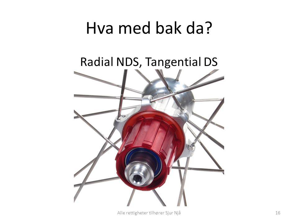 Hva med bak da? Radial NDS, Tangential DS 16Alle rettigheter tilhører Sjur Njå