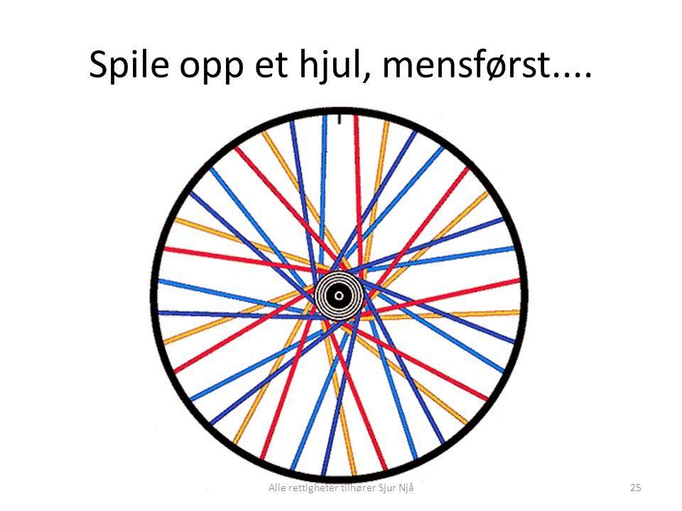 Spile opp et hjul, mensførst.... 25Alle rettigheter tilhører Sjur Njå