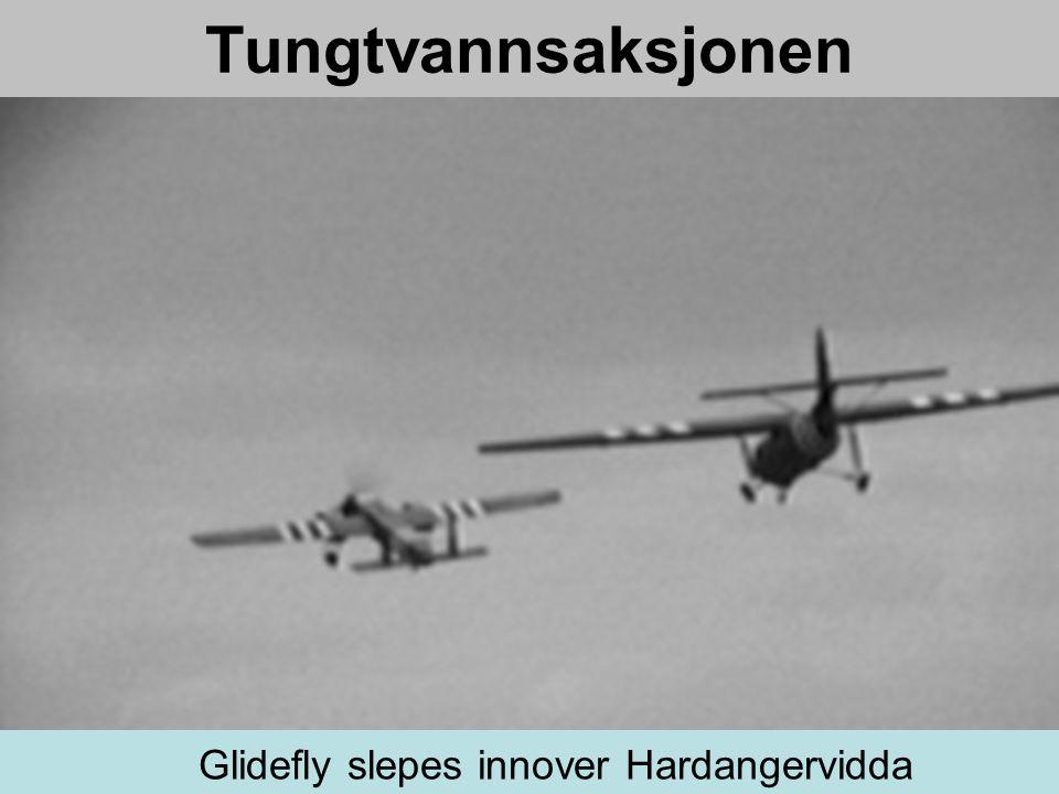 Tungtvannsaksjonen Glidefly slepes innover Hardangervidda