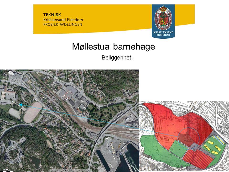 Møllestua barnehage Eksisterende bebyggelse.Byggeår: 1976.