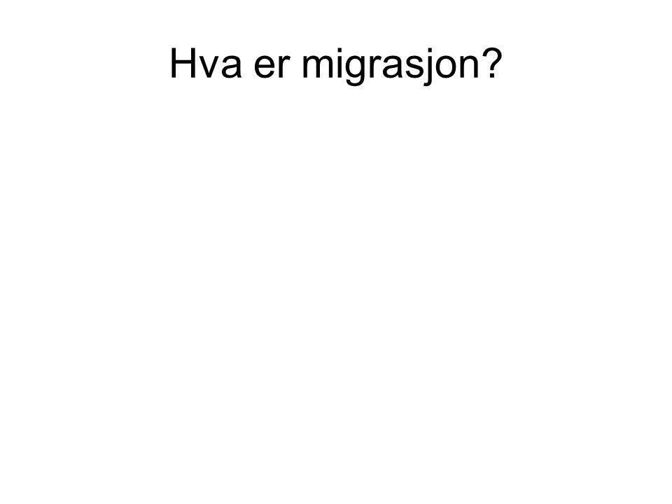 Hva er migrasjon?
