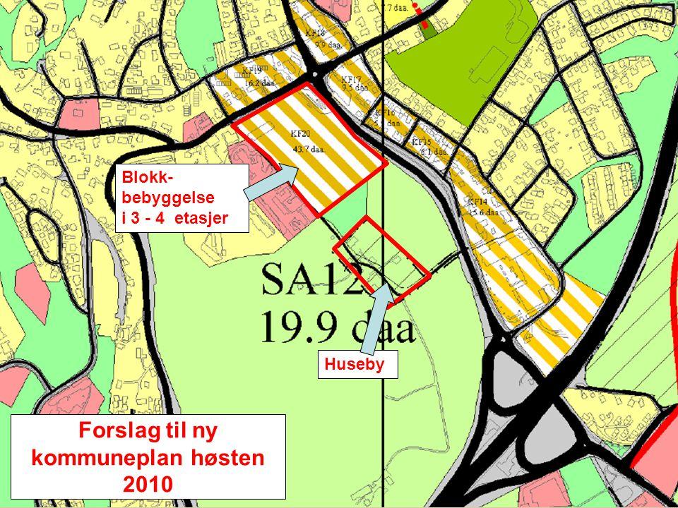 Forslag til ny kommuneplan fremlagt høsten 2010 Huseby gårds venner og Skedsmo historielag er sterkt uenige i det som foreslås for Husebyjordet. Her v