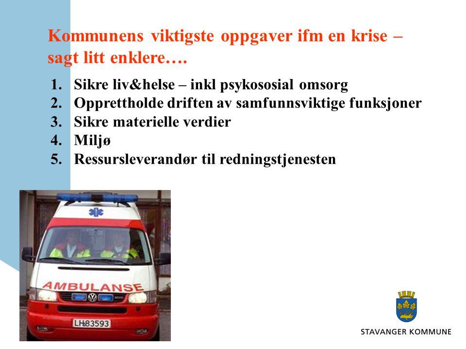 •Kartlegging av risiko og sårbarhet •Forebygging •Planlegging •Krisehåndtering •Kommunikasjon •Kvalitetssikring •Samarbeid og samordning •Forebyggende sikkerhetstjeneste