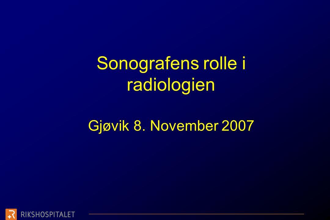 UL er (som all annen radiologi) ikke å ta bilder. UL er å løse et problem! Takk for oppmerksomheten