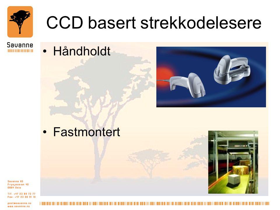 CCD basert strekkodelesere •Håndholdt •Fastmontert
