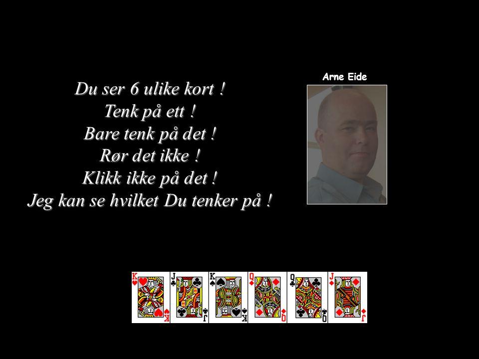 at jeg via billedskjermen kan se gjennom Dine øyne... Arne Eide