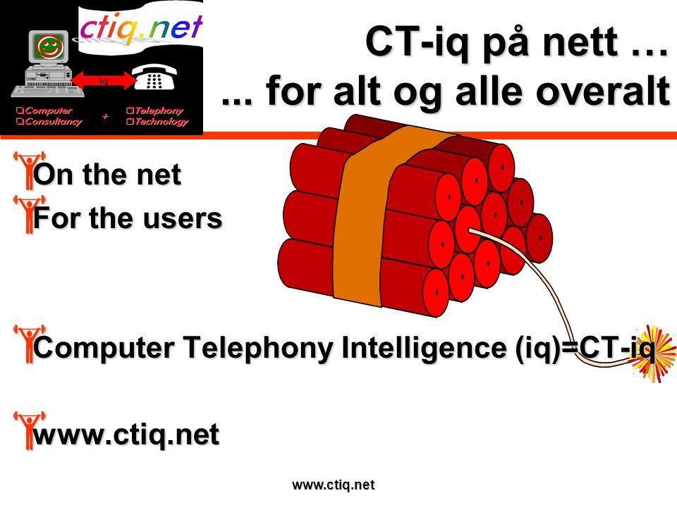 www.ctiq.net CT-iq på nett …...