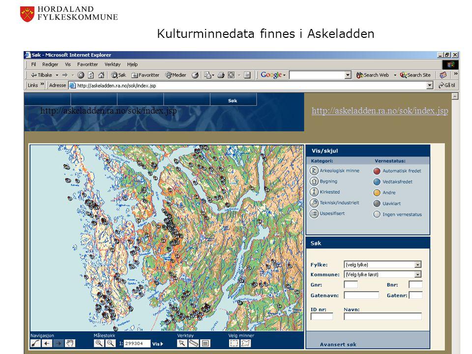 Kulturminnedata finnes i Askeladden http://askeladden.ra.no/sok/index.jsp