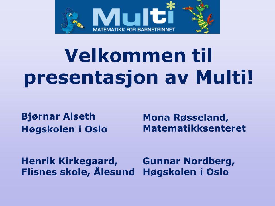 Velkommen til presentasjon av Multi.