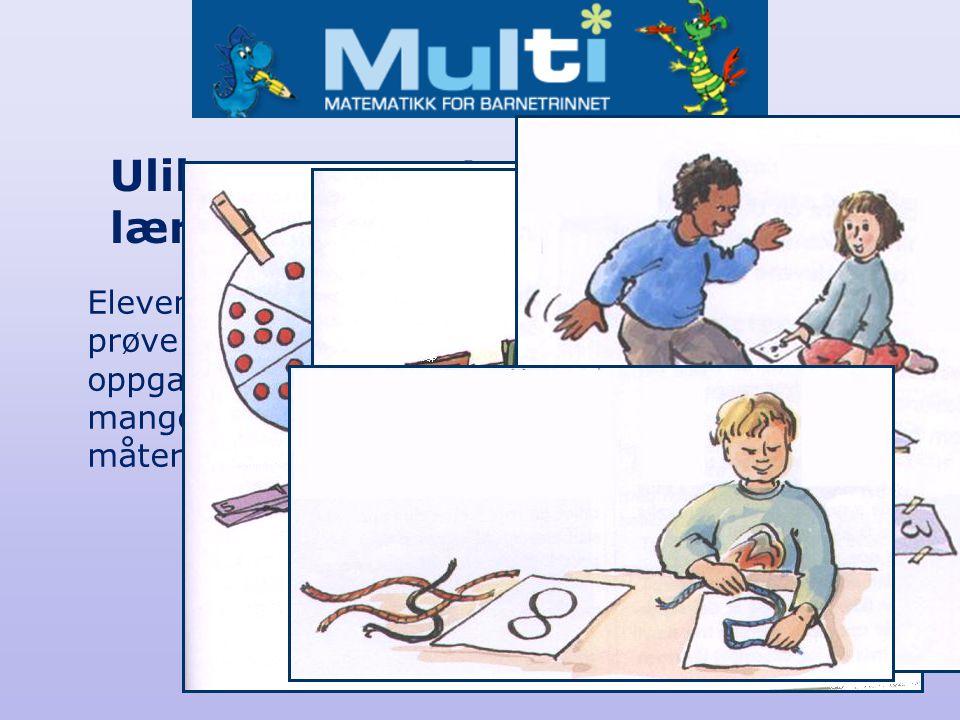 Elevene må få prøve å løse oppgaver på mange ulike måter. Ulike representasjoner og læringsstiler