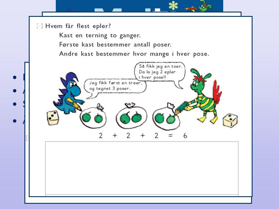 Oppbygging av kapittel •Fra konkret til abstrakt •Aktiviteter og ulike læringsstiler •Samtalebilde •Åpne oppgaver og spill