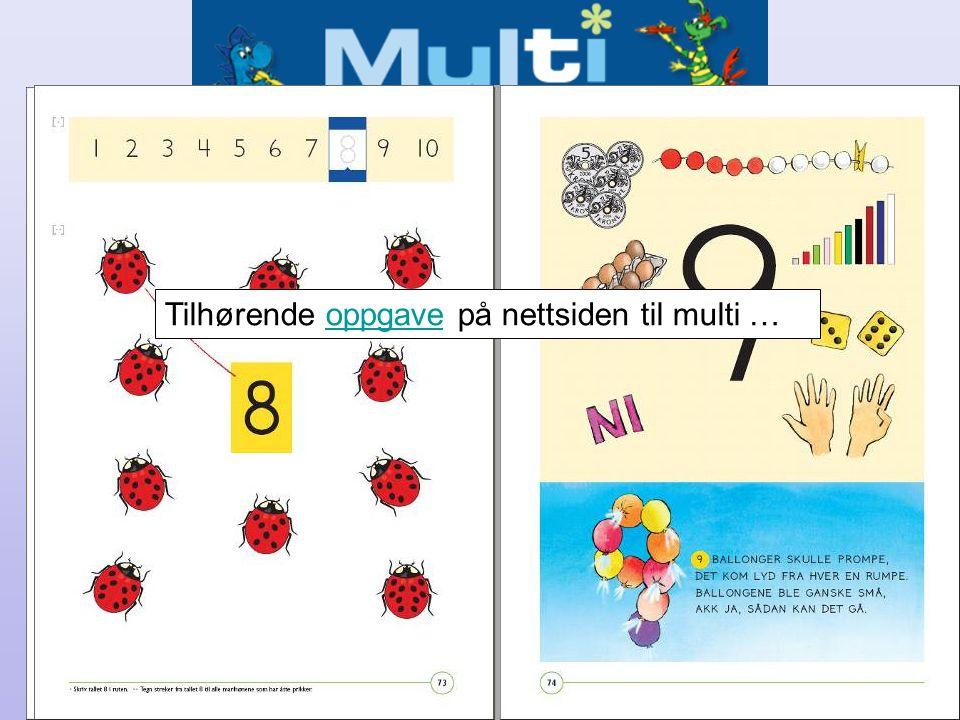 Bok + Nett – eksempel fra Multi 1 Tilhørende oppgave på nettsiden til multi …