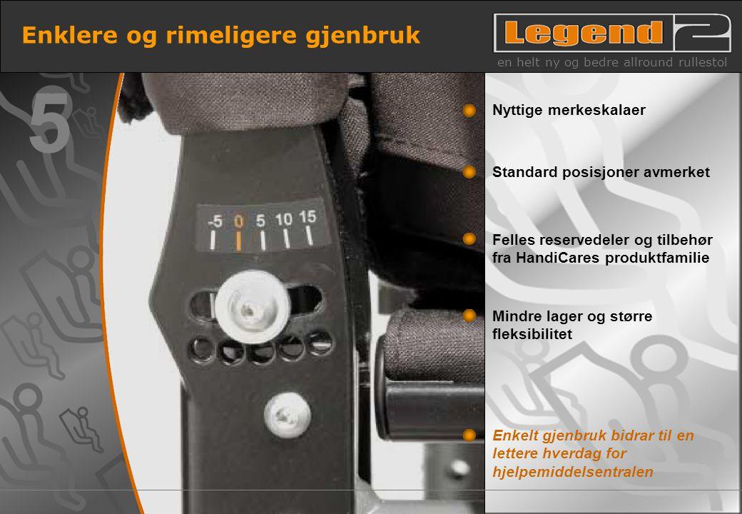12 Enklere og rimeligere gjenbruk en helt ny og bedre allround rullestol Enkelt gjenbruk bidrar til en lettere hverdag for hjelpemiddelsentralen Mindr