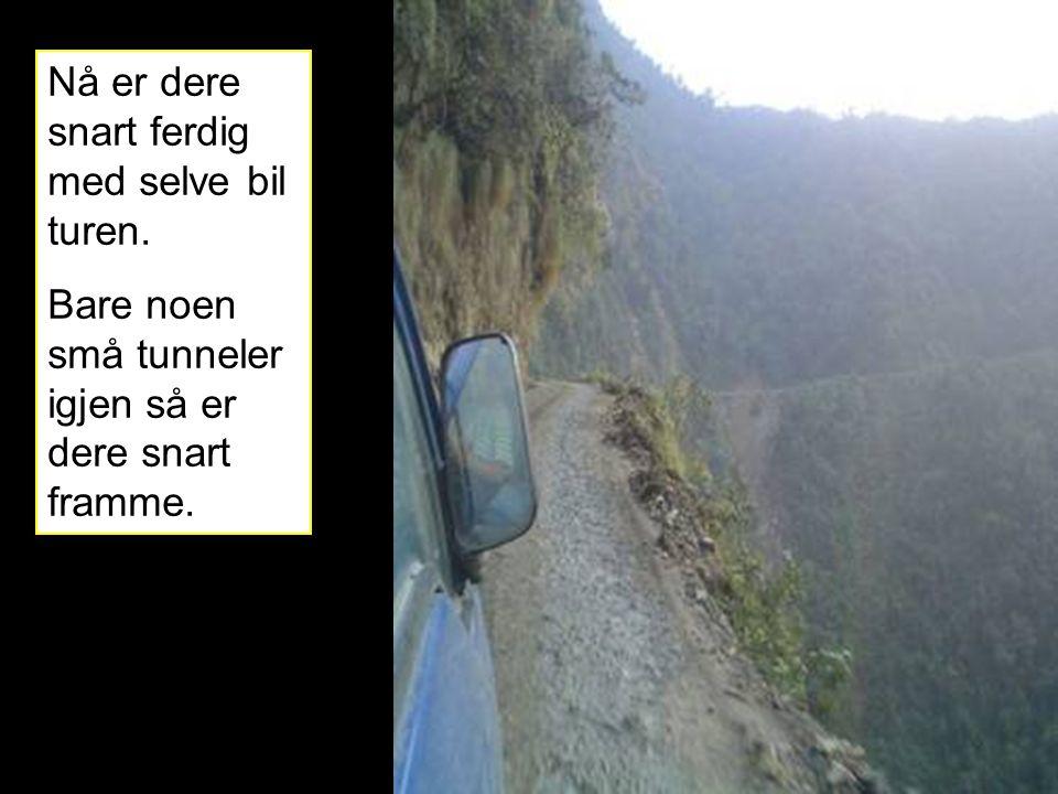 Nå er dere snart ferdig med selve bil turen. Bare noen små tunneler igjen så er dere snart framme.