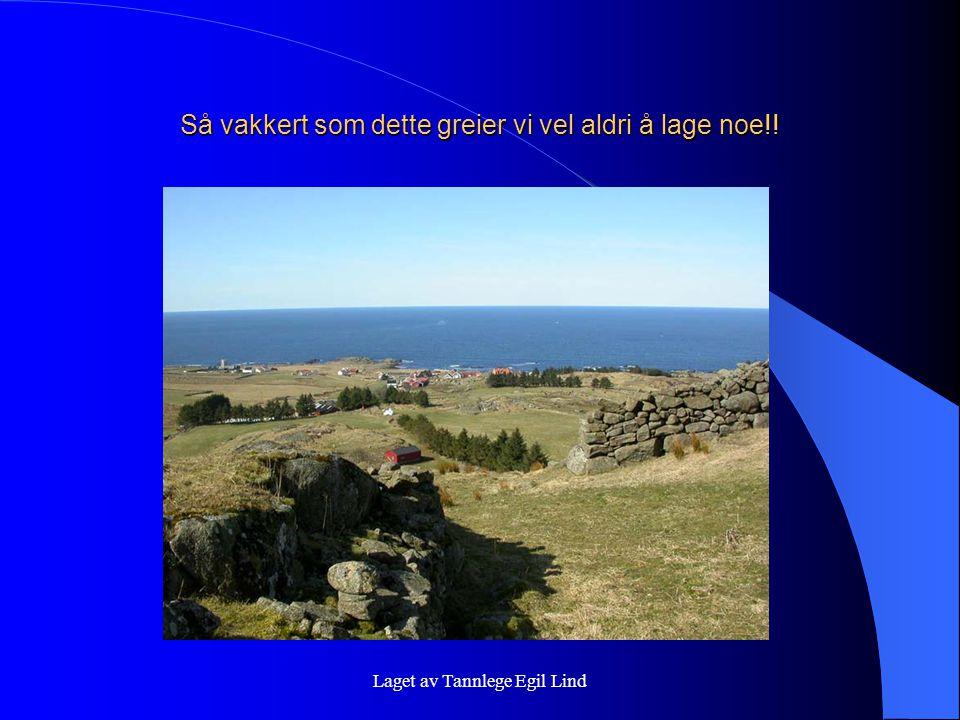 Laget av Tannlege Egil Lind Så vakkert som dette greier vi vel aldri å lage noe!!