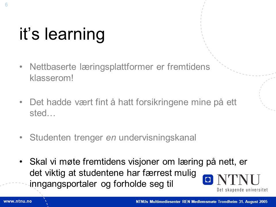 6 it's learning •Nettbaserte læringsplattformer er fremtidens klasserom.