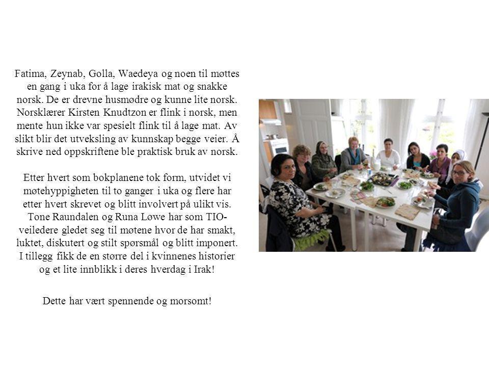 Fatima, Zeynab, Golla, Waedeya og noen til møttes en gang i uka for å lage irakisk mat og snakke norsk.