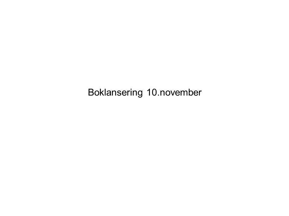 Boklansering 10.november