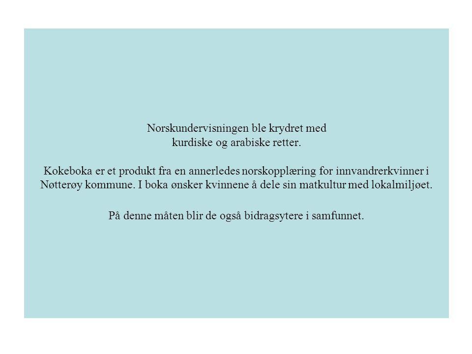 Norskundervisningen ble krydret med kurdiske og arabiske retter.