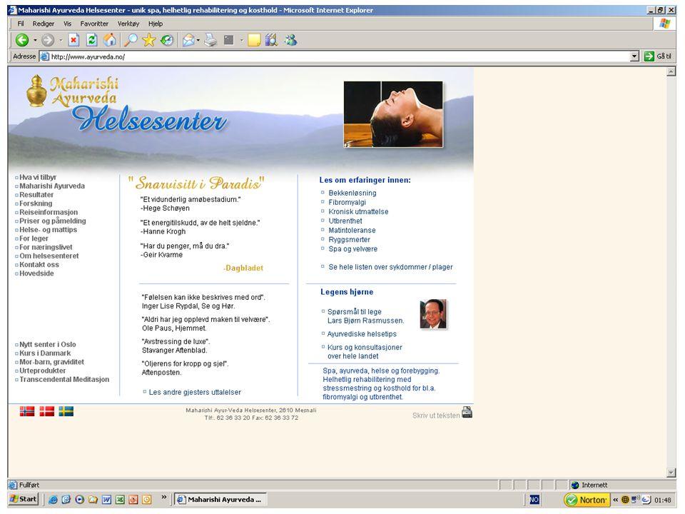 Maharishi Vedic University, Nordic Informasjon