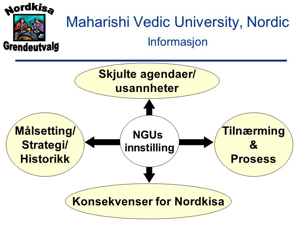 Skjulte agendaer/ usannheter Konsekvenser for Nordkisa Målsetting/ Strategi/ Historikk Tilnærming & Prosess NGUs innstilling