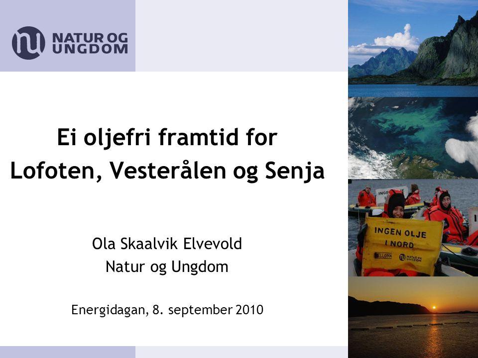 Ei oljefri framtid for Lofoten, Vesterålen og Senja Ola Skaalvik Elvevold Natur og Ungdom Energidagan, 8.