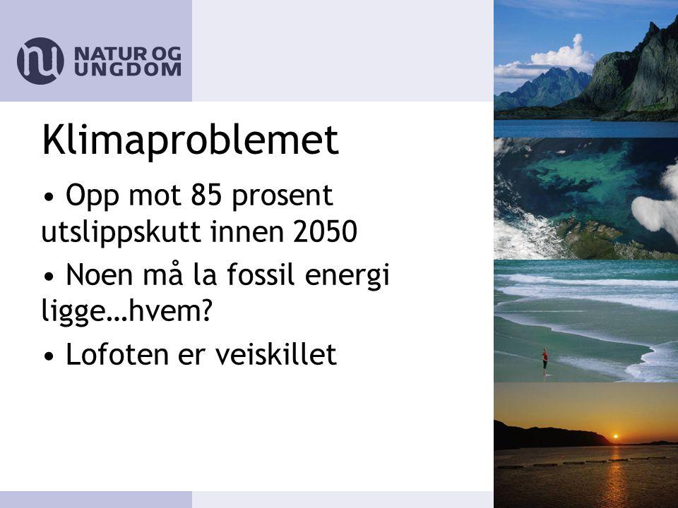 Klimaproblemet • Opp mot 85 prosent utslippskutt innen 2050 • Noen må la fossil energi ligge…hvem.
