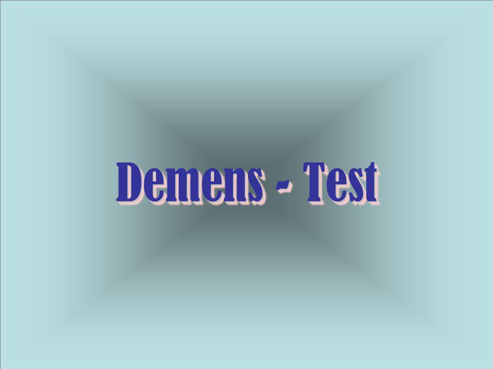 Demens - Test Demens - Test