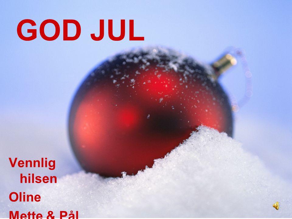 Til alle kjente og kjære sender vi ønsker om en gledelig og fredelig julefeiring. Vi tenker tilbake på året som har gått med gode minner og gleder oss