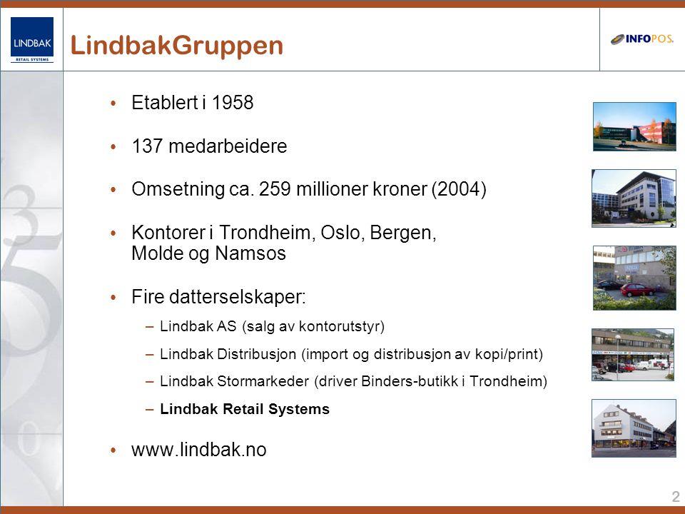 2 LindbakGruppen • Etablert i 1958 • 137 medarbeidere • Omsetning ca.