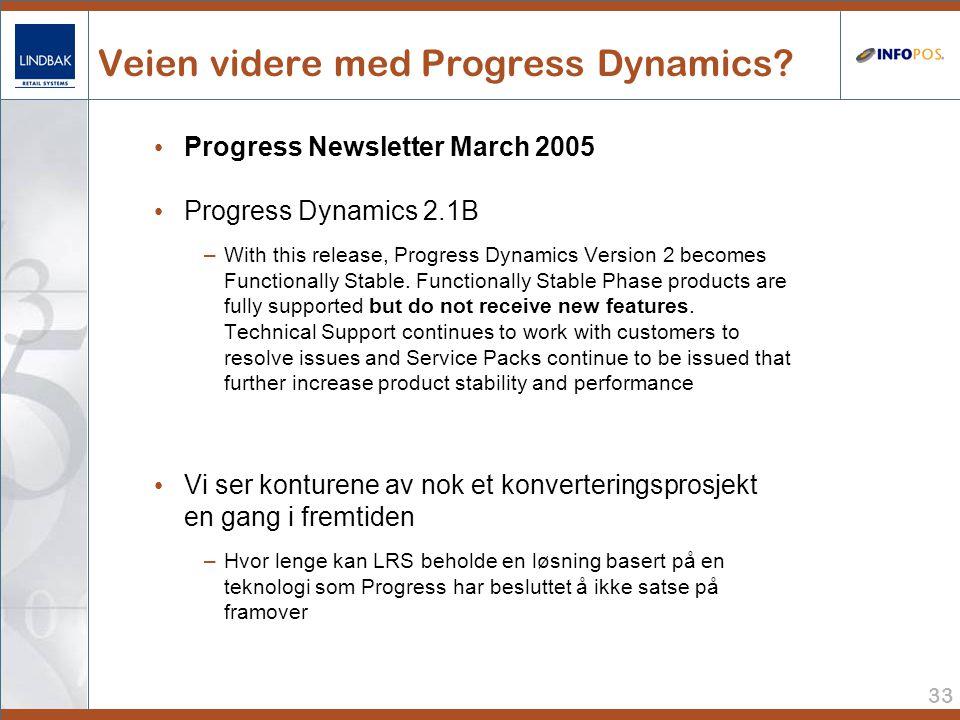 33 Veien videre med Progress Dynamics.