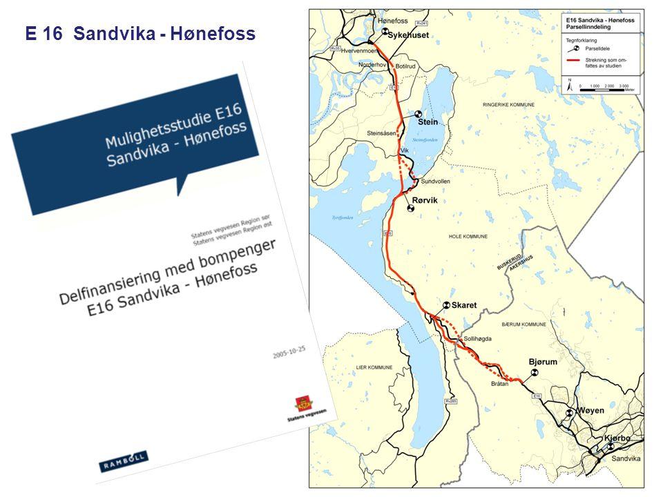 E 16 Sandvika - Hønefoss