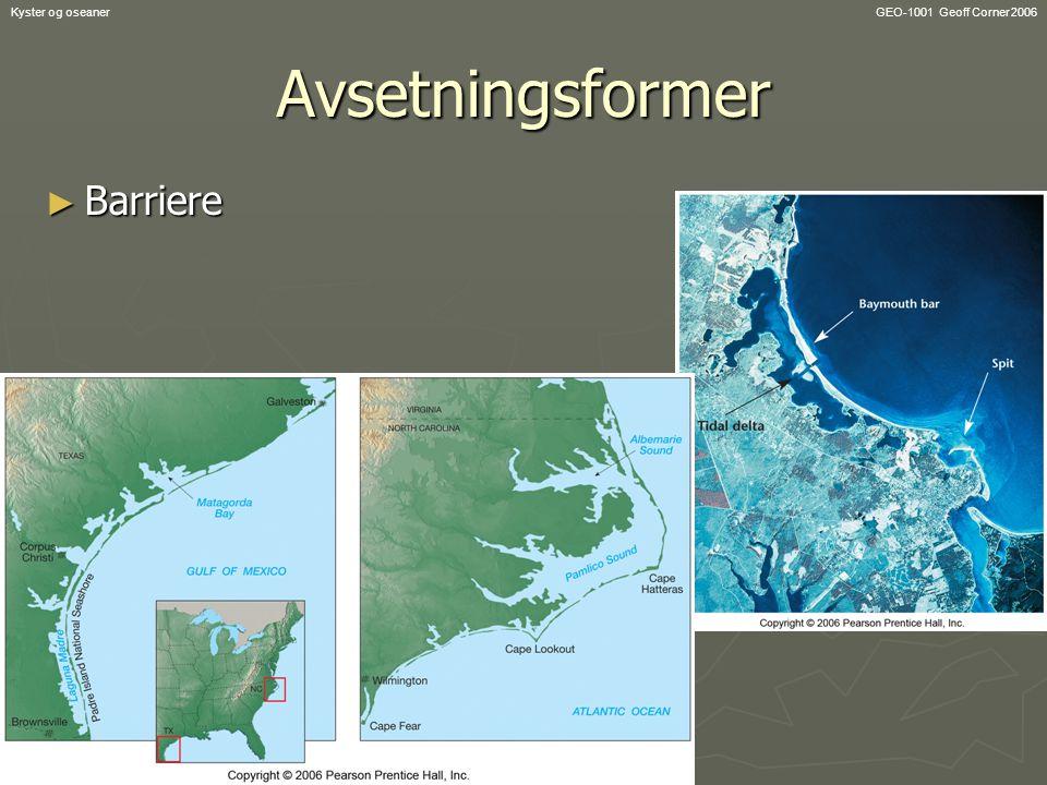 GEO-1001 Geoff Corner 2006Kyster og oseanerAvsetningsformer ► Barriere