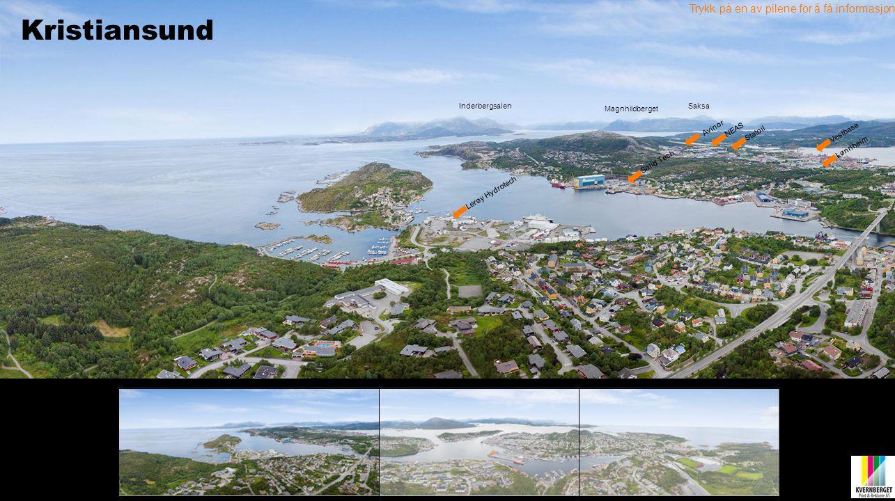 Lønnheim Vestbase Avinor Lerøy Hydrotech Statoil Trykk på en av pilene for å få informasjon NEAS Solid Tech Magnhildberget SaksaInderbergsalen Kristia