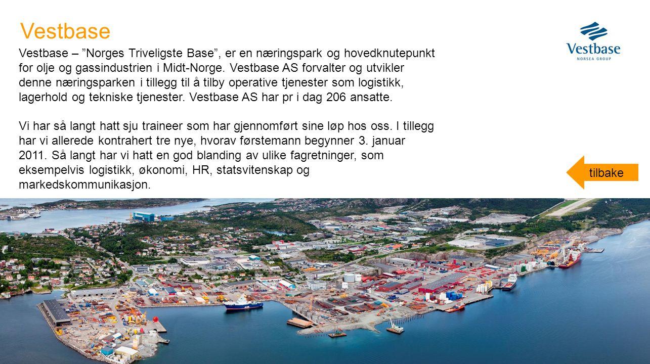 """Vestbase – """"Norges Triveligste Base"""", er en næringspark og hovedknutepunkt for olje og gassindustrien i Midt-Norge. Vestbase AS forvalter og utvikler"""