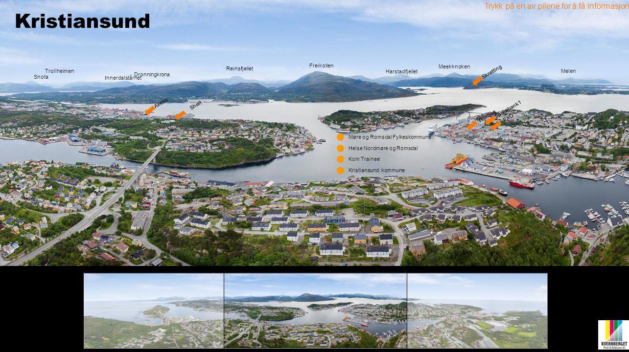 Trykk på en av pilene for å få informasjon Nordea Sparebank1 Freikollen PXO Axess Kom Trainee Skretting Reinsfjellet Dronningkrona Snota Innerdalstårn