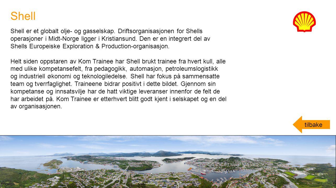 Shell er et globalt olje- og gasselskap. Driftsorganisasjonen for Shells operasjoner i Midt-Norge ligger i Kristiansund. Den er en integrert del av Sh