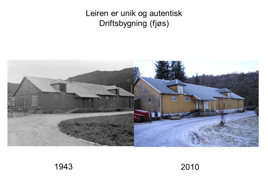 Leiren er unik og autentisk Driftsbygning (fjøs) 1943 2010