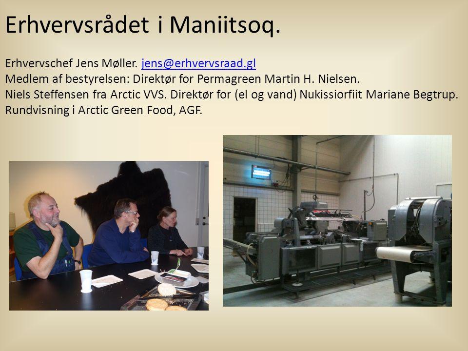 Erhvervsrådet i Maniitsoq.Erhvervschef Jens Møller.