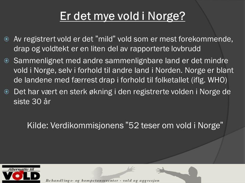 """Er det mye vold i Norge?  Av registrert vold er det """"mild"""" vold som er mest forekommende, drap og voldtekt er en liten del av rapporterte lovbrudd """