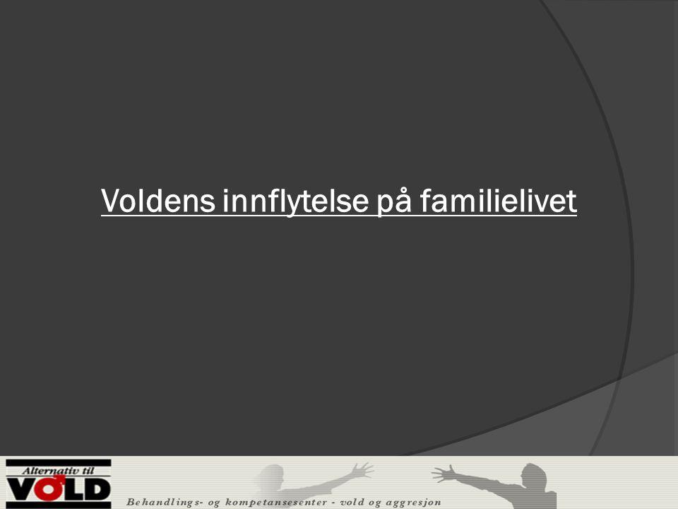 Voldens innflytelse på familielivet