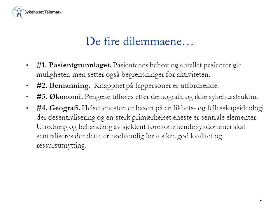 7 De fire dilemmaene… • #1.Pasientgrunnlaget.